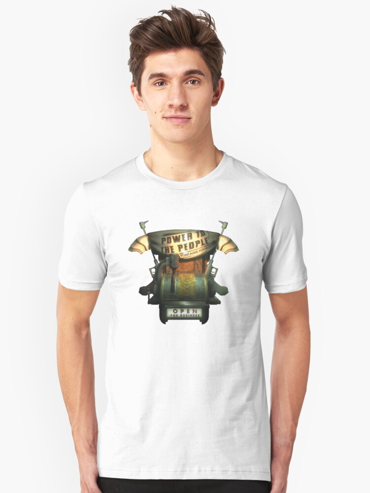 BioShock – Power to the People Machine Unisex T-Shirt Front