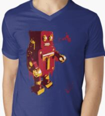 Red Tin Robot Splattery Shirt or iPhone Case Mens V-Neck T-Shirt