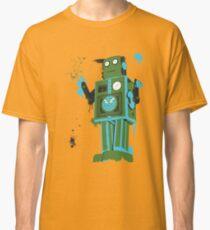Green Tin Robot Splattery Shirt or iPhone Case Classic T-Shirt