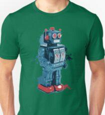 Blue Toy Robot Splattery Shirt T-Shirt