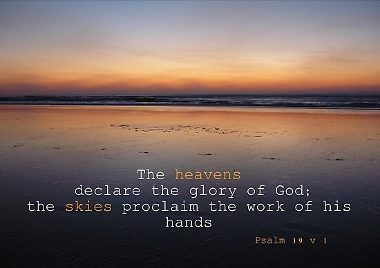 Image result for image of heavens declare the glory of god