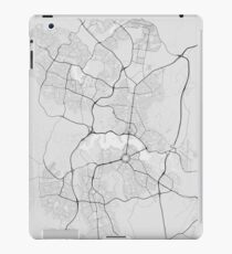 Canberra-Queanbeyan, Australia Map. (Black on white) iPad Case/Skin