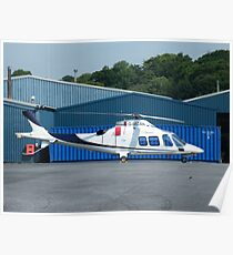 Agusta G-MCAN - Castle Air Charters Poster