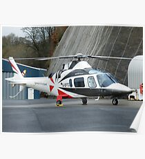 Agusta Westland G-OFTC - Castle Air Charters Poster
