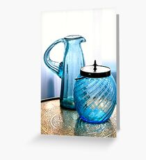 DOUBLE BLUE Greeting Card