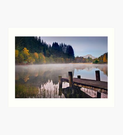 Loch Ard jetty and boat house Art Print
