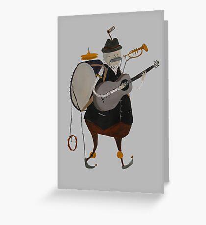 One Man Band Machine Greeting Card