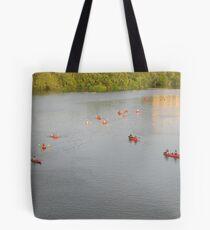 Canoes Gathering Tote Bag