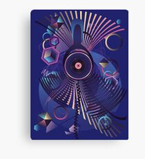 Stylized Music Poster Canvas Print