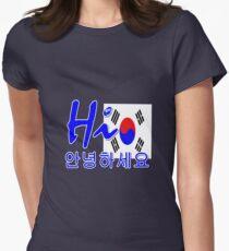 HI S.KOREA Womens Fitted T-Shirt