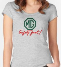MG Safety Fast Women's Fitted Scoop T-Shirt