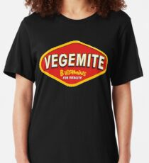 Vegemite B Vitamins for Vitality Slim Fit T-Shirt