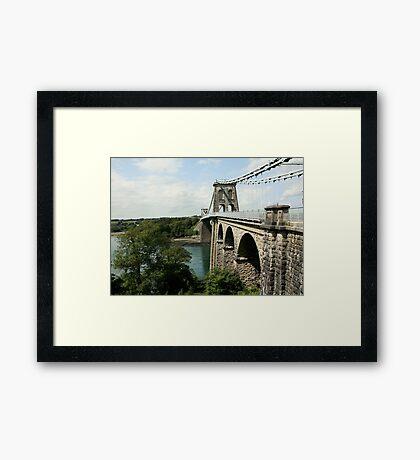 Menai Suspension Bridge Framed Print