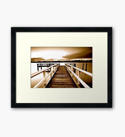 Tweed Jetty Sepia Framed Print