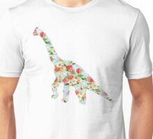 Floral Dinosaur Unisex T-Shirt