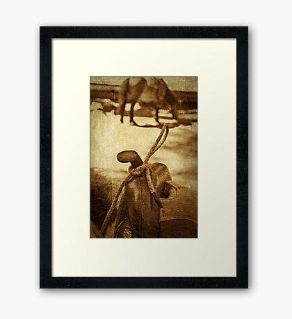 Saddle Framed Print