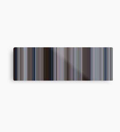 Moviebarcode: Jaws (1975) [Simplified Colors] Metal Print