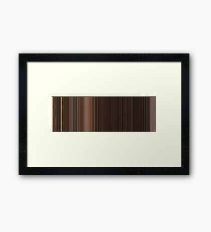 Moviebarcode: From Dusk Till Dawn (1996) [Simplified Colors] Framed Print
