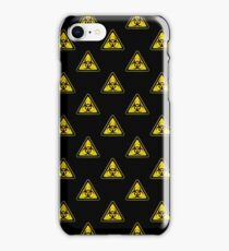 Biohazard Symbol Warning Sign - Yellow & Black - Triangular - Tiled iPhone Case/Skin