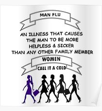 Man Flu Poster