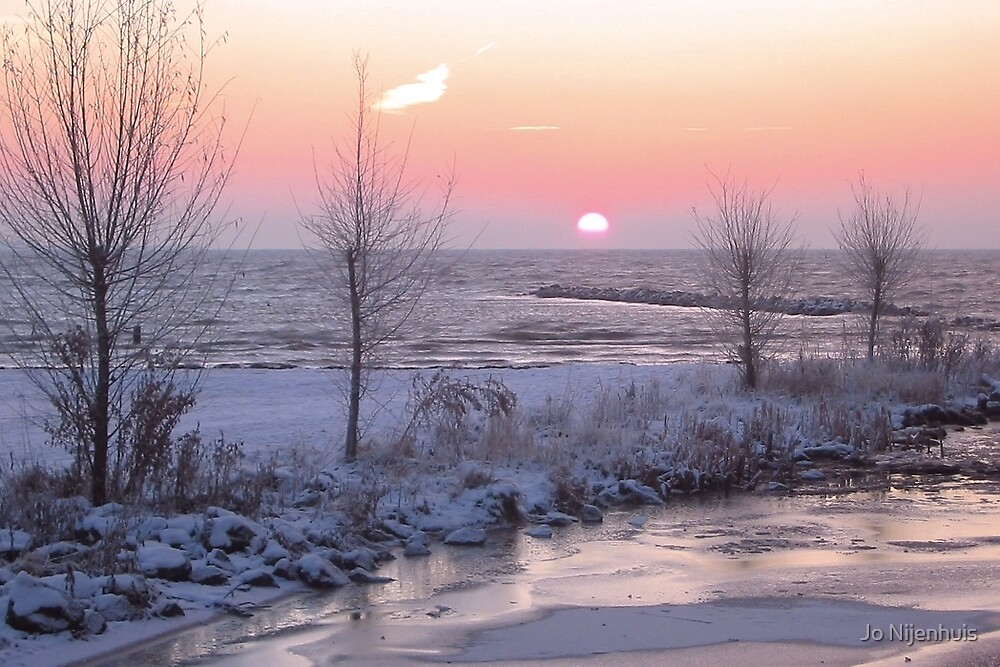 Quot Winter Morning Sunrise Quot By Jo Nijenhuis Redbubble