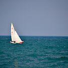 Red Sailboat ~ Lake Michigan by hmx23