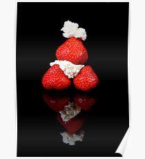 Strawberry & Cream pyramid Poster