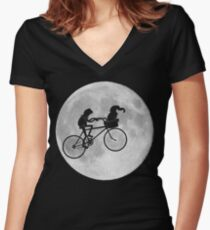 Gonzo The Extraterrestrial  Women's Fitted V-Neck T-Shirt