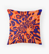 OrangeRed MidnightBlue | Abstract random colors #14 Throw Pillow