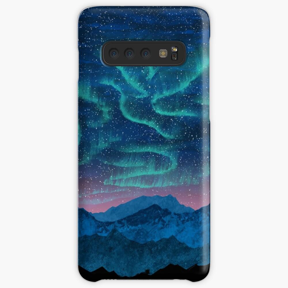 Aurora borealis over mountains Case & Skin for Samsung Galaxy