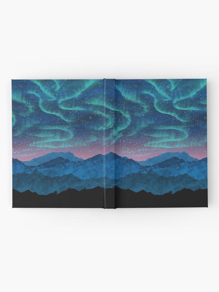 Alternate view of Aurora borealis over mountains Hardcover Journal