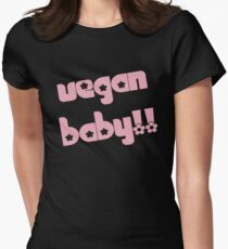 Vegan Baby in Pink Women's Fitted T-Shirt