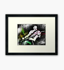 Machine Gun Blues Framed Print