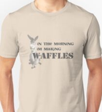 in the morning, donkey is making waffles Unisex T-Shirt