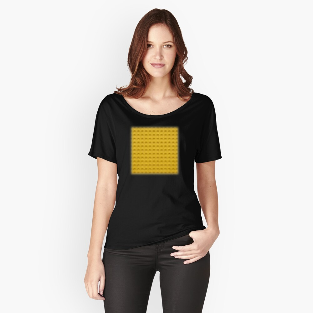Building Block Brick Texture - Yellow Women's Relaxed Fit T-Shirt Front