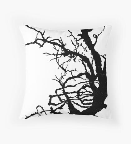 Gnarly Tree Throw Pillow