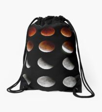 Blood Moon to Super Moon - Sept 27, 2015 Drawstring Bag
