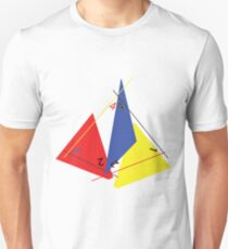 Abstract 4-Sided Die T-Shirt