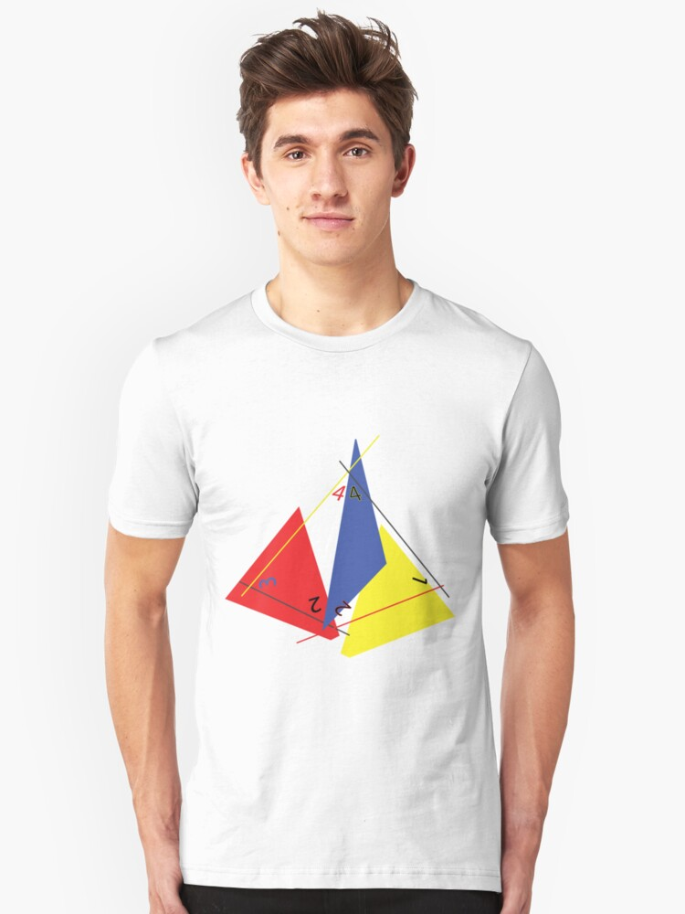 Abstract 4-Sided Die Unisex T-Shirt Front