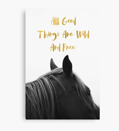 All Good Things - Horse Canvas Print