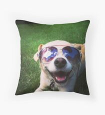 Happiest Dog on Earth Throw Pillow