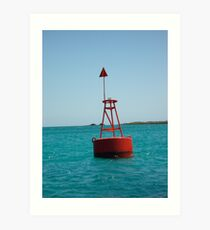 Red Buoy Art Print