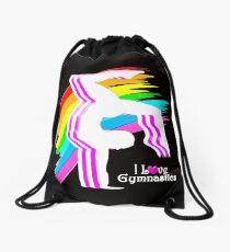 VIBRANT RAINBOW GYMNASTICS DESIGN Drawstring Bag