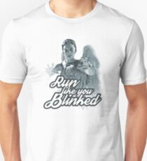 Weeping Angel Run Like You Blinked Doctor Who T-Shirt