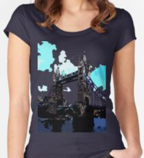 London Tower Bridge UK Women's Fitted Scoop T-Shirt