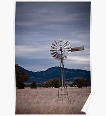 Windmill; North West NSW Poster