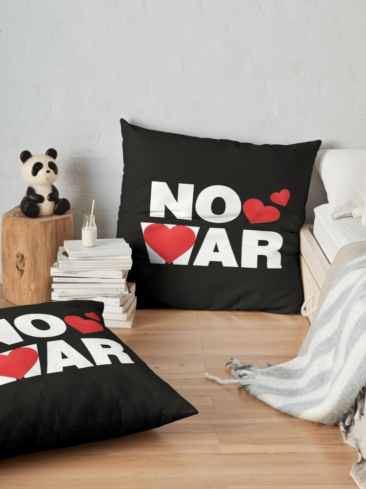 Alternate view of No War Emoji Lovely Saying Just Love Floor Pillow