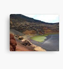 Green Crater lake Canvas Print