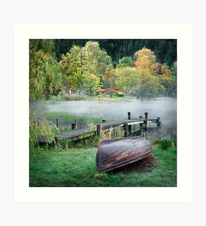 Loch Ard - At the Dock Art Print