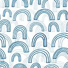 Rainbow echoes - fun abstract pattern by Cecca Designs by Cecca-Designs